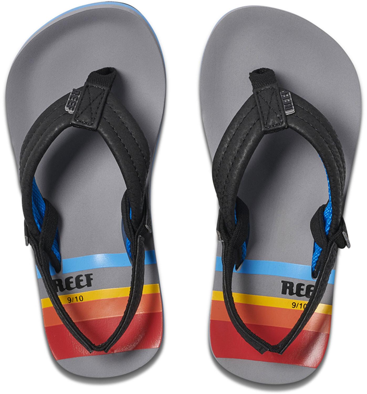 Reef Ahi Sandals Kids, grey pinstripes